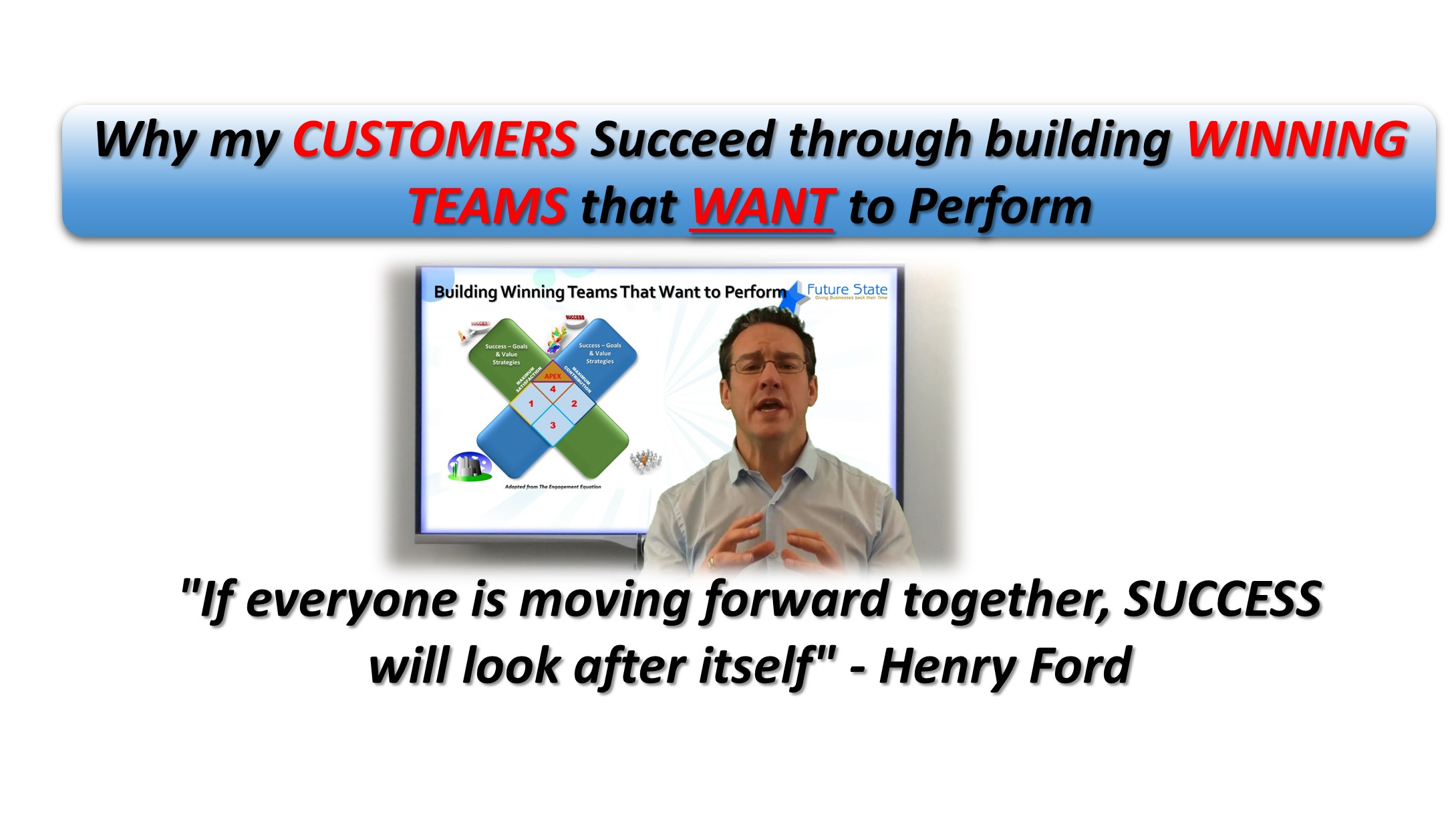 How my Customers SUCCEED by Building WINNING Teams that WANT to Perform